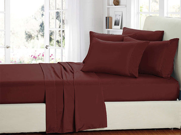 Smart Sheets® Burgundy Microfiber Sheet Set