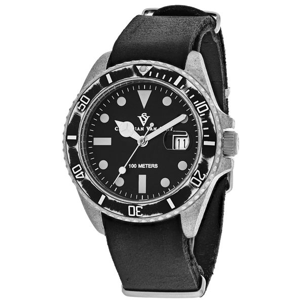 Christian Van Sant Men's Montego Vintage Black Dial Watch - CV5200 - Product Image