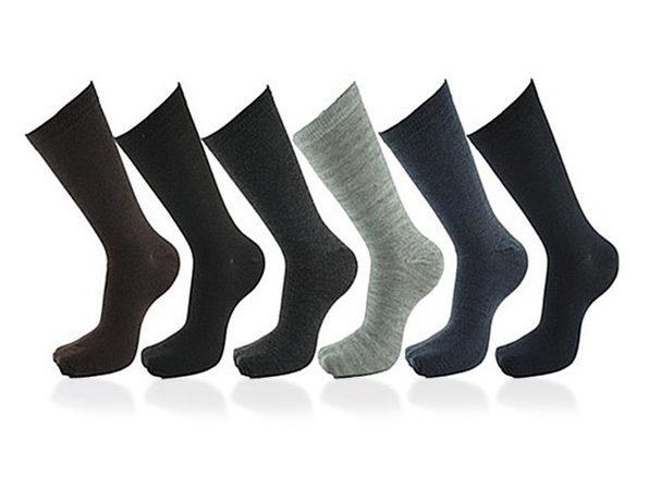 Premium Cotton Men's Dress Socks: 12-Pack (Solids)