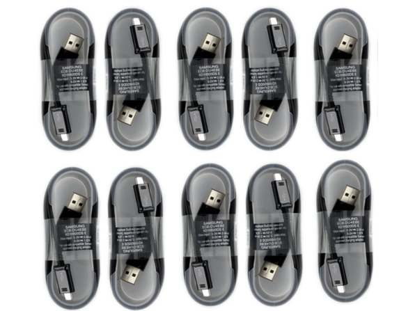 Samsung 5ft. Sync Charge Micro USB Data Cable, 10 Pack, Black