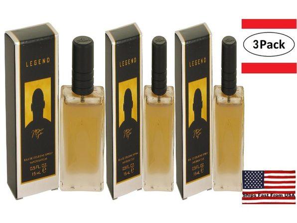 3 Pack Michael Jordan Legend by Michael Jordan Mini Cologne Spray .5 oz for Men - Product Image