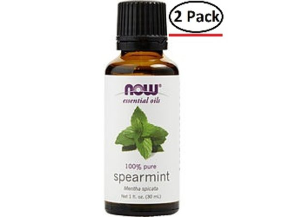 ESSENTIAL OILS NOW by NOW Essential Oils SPEARMINT OIL 1 OZ for UNISEX ---(Package Of 2)