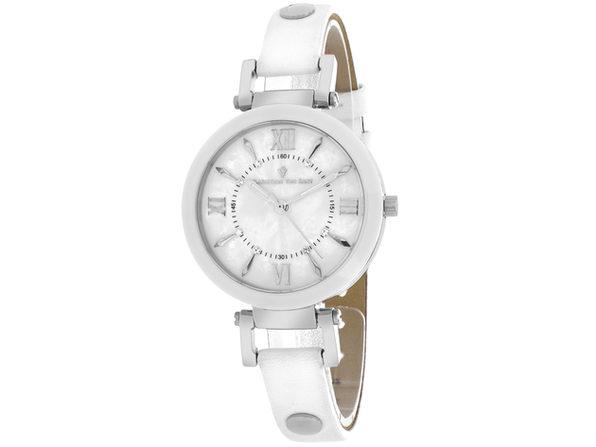Christian Van Sant Women's Petite White MOP Dial Watch - CV8161