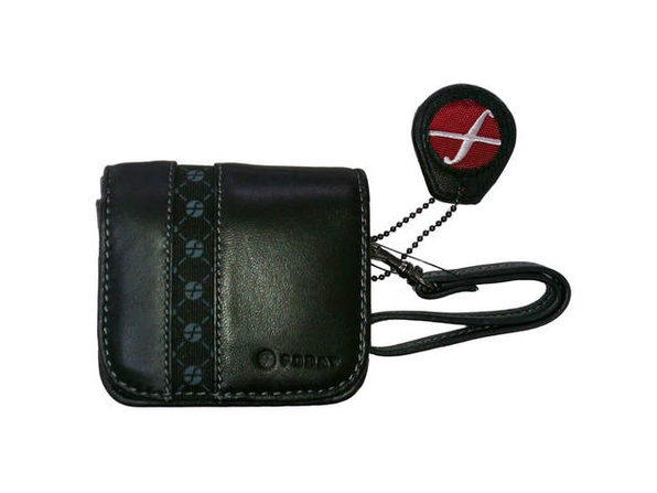 Foray FOR110TRBLK Leather Compact Digital Camera Cases - Product Image