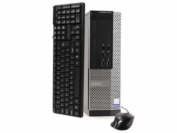 Dell OptiPlex 7020 Desktop PC, 3.2GHz Intel i5 Quad Core Gen 4, 8GB RAM, 500GB SATA HD, Windows 10 Home 64 bit (Refurbished Grade B)
