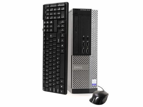 Dell OptiPlex 7020 Desktop PC, 3.2GHz Intel i5 Quad Core Gen 4, 8GB RAM, 500GB SATA HD, Windows 10 Home 64 bit (Refurbished Grade B)