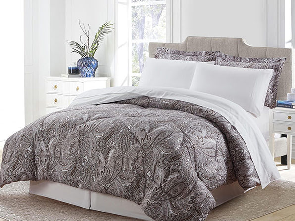 Bibb Home 8-Piece Down Alternative Comforter Set (Stella/Queen)