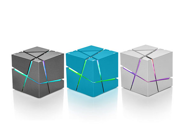 """The Cube"" Bluetooth Speaker (Blue)"