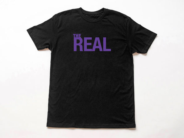 The Real Logo Black T-Shirt-XL - Product Image