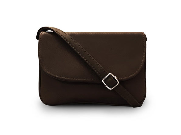 Leather Crossbody Bag (Brown)