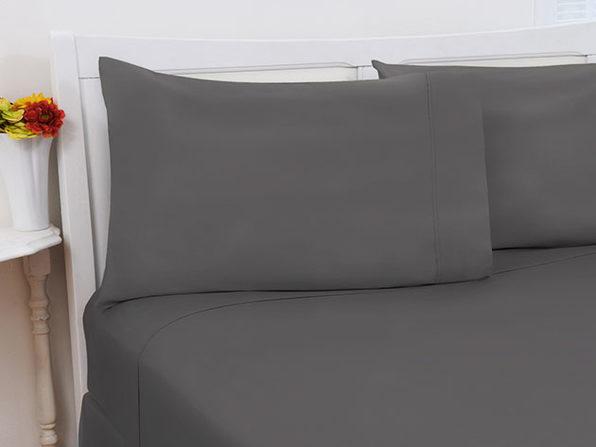 1800 Series Bamboo Extra Soft 4-Piece Sheet Set (King/Grey)