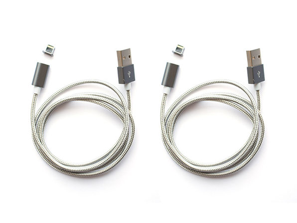 ARMOR-X Magnetic Lightning Charging Cable: 2-Pack (Grey)