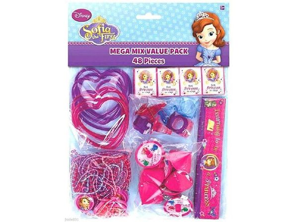 Party Favors - Sofia the First - Mega Mix Value Pack - 48pc Set