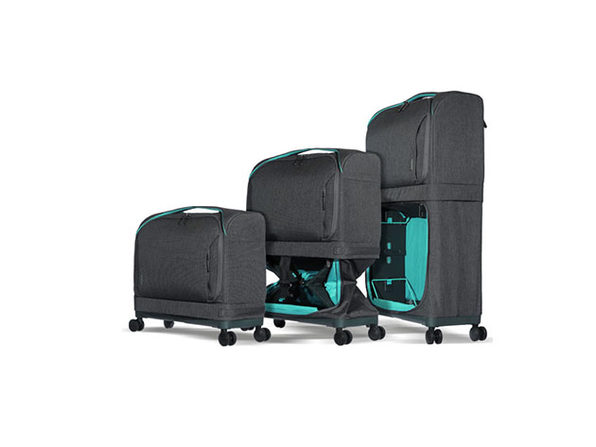 Rollux 2-in-1 Expandable Suitcase (Turquoise)