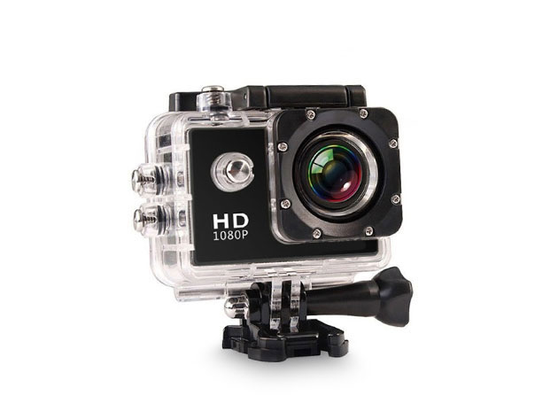 All Pro HD Waterproof Action Camera + Accessory Pack (Black)