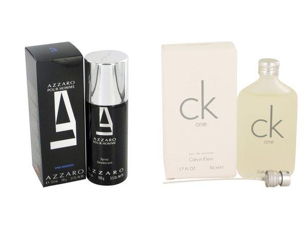 Gift set  AZZARO by Loris Azzaro Deodorant Spray 5 oz And a bottle of CK ONE Eau De Toilette Pour/Spray (Unisex) 1.7 oz - Product Image
