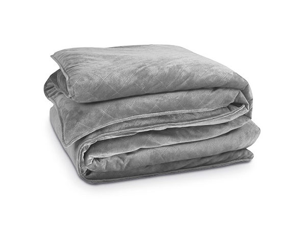 Bibb Home 10 Lb Weighted Blanket & Mink Cover