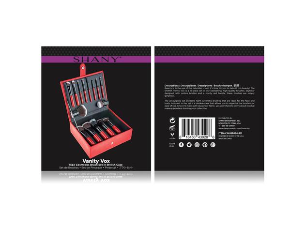 SHANY Vanity Vox- 15 Pc Premium Cosmetics Brush Set with Stylish Storage Box and Stand for $39 6
