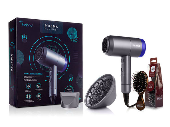 Prisma Ionic Pro Dryer (Red Shift) + Paddle Hair Brush (Pink)