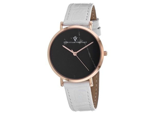 Christian Van Sant Women's Lotus Black Dial Watch - CV0423