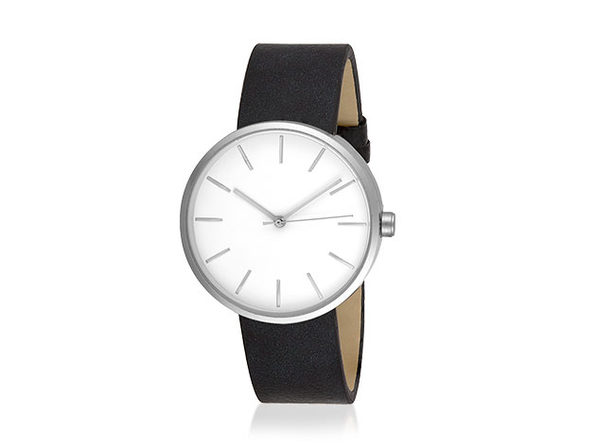 Sleek Minimalist Watch (Black/Silver) - Product Image