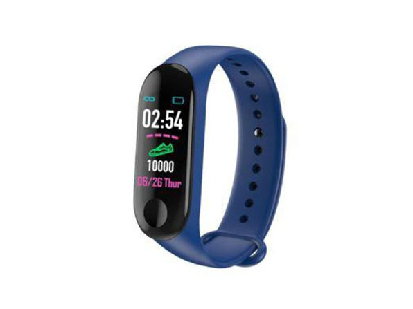 Smart Fitness Tracker With HR & BP Monitor - Blue - Product Image