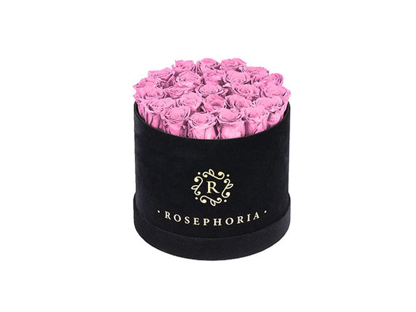 24 Roses Round Box - Pink - Product Image