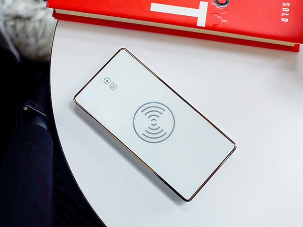 Wireless Power Bank + Wireless Charger Adapter (White