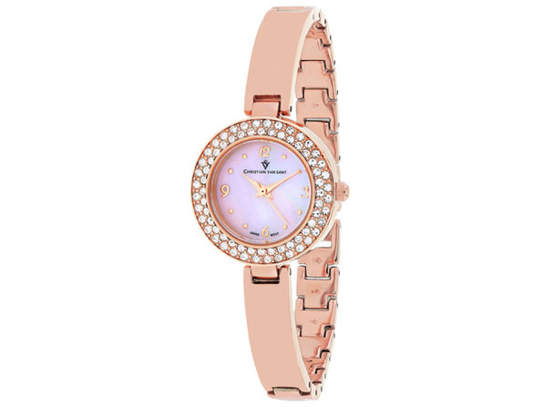 Christian Van Sant Women's Palisades Pink MOP Dial Watch - CV8614 - Product Image