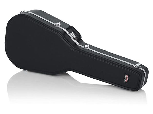 Gator Cases GC-DEEP BOWL Deluxe ABS Molded Case for Acoustic Guitars - Black (Like New, Damaged Retail Box)