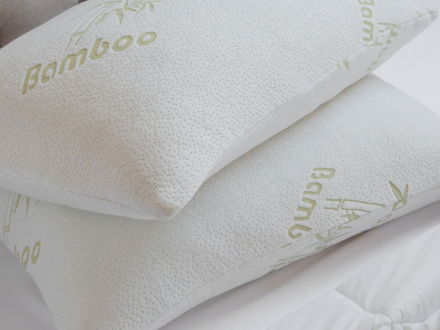 Lay back and relax with this bamboo memory foam pillow, designed to provide you maximum comfort