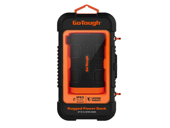 GO-TOUGH Power Bank with LED Flashlight (7,500mAh)