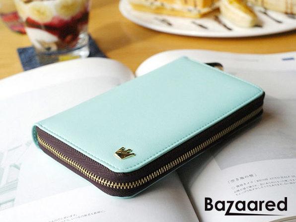 Smartphone Zip Wallet (Sky Blue) - Product Image
