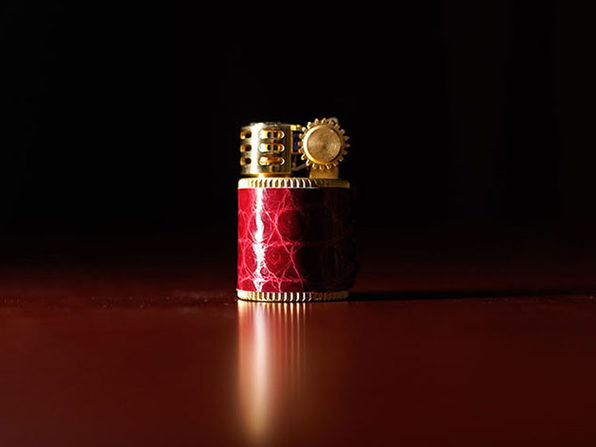 Crocodile Leather Kerosene Mini Douglass Lighter