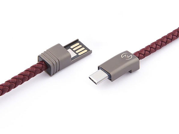 NILS 2.0 Solo: Fast Wearable USB-C Cable (Bordeaux Red/ M)