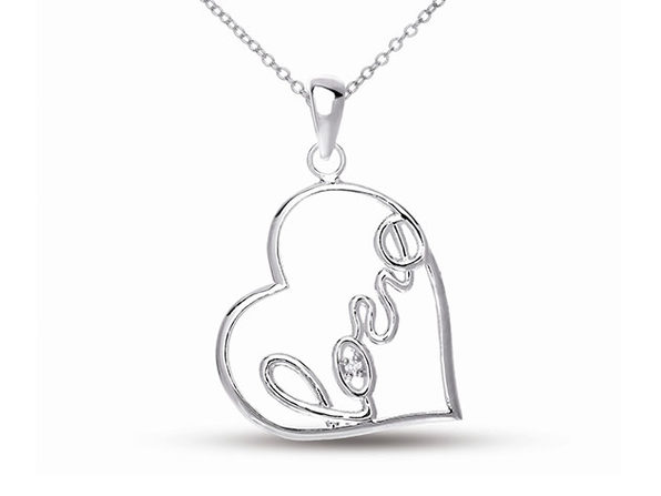 """Create Your Love Story"" Necklace (Silver Plated)"