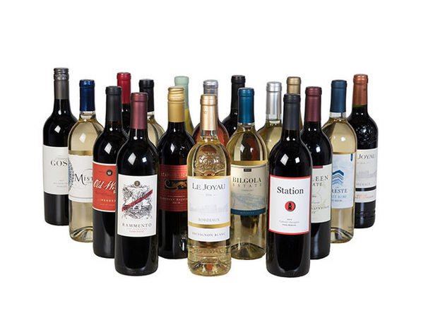 50% Off World Wine Tour Collection: 18 Bottles of Wine + Free Shipping