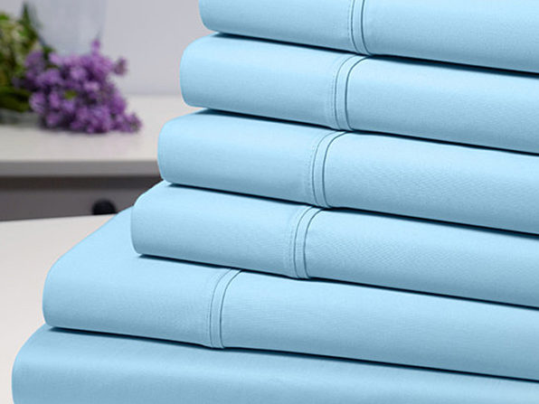 Bamboo Comfort 6 Piece Luxury Sheet Set - Aqua (Full) - Product Image
