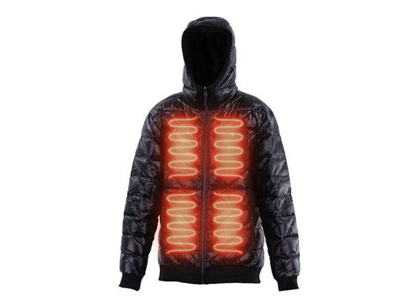 Reversible Heated Zip-Up Puffy Sweatshirt