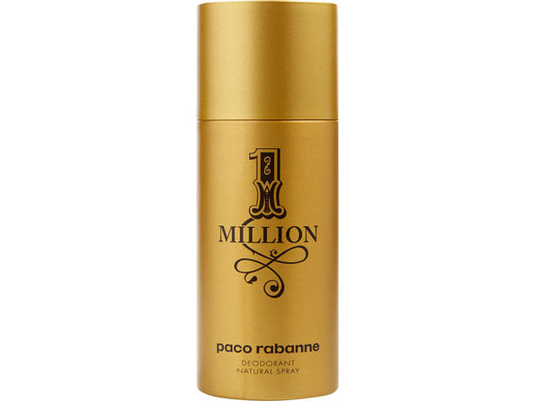 PACO RABANNE 1 MILLION by Paco Rabanne DEODORANT NATURAL SPRAY 5.1 OZ for MEN ---(Package Of 4)