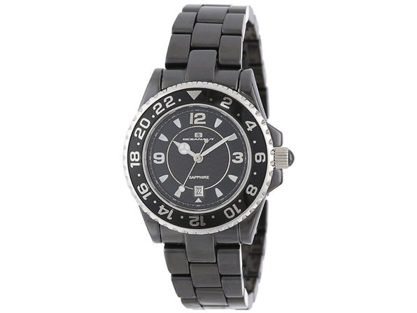 Oceanaut Women's Ceramic Black Dial Watch - CN1C2601 - Product Image