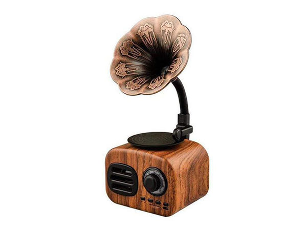 Retro Phonograph Bluetooth Speaker & Radio
