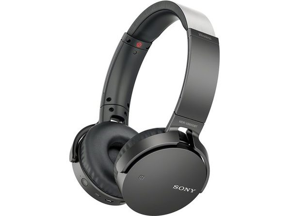 Sony XB650BT Wireless On-Ear Bluetooth Headphones with 30mm drivers, NFC, Powerful Music, Comfort Ear Pads, and Built-In Microphone, Black, MDRXB650BT/B (Open Box - Like New)