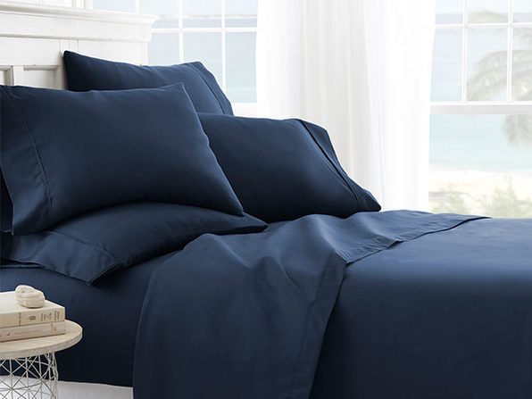 6-Piece Sheet Set - Cal King/Navy - Product Image