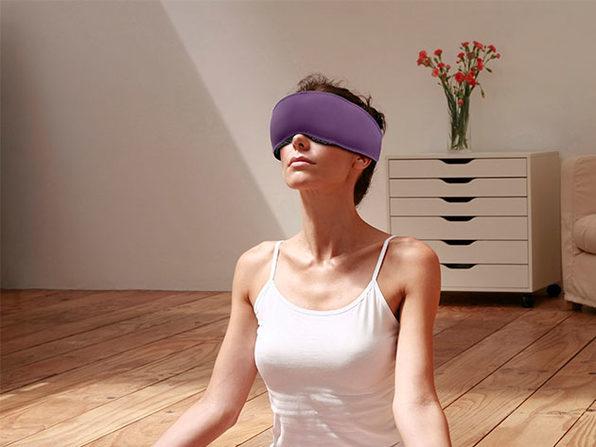 Dreamlight Muse: 100% Light Blocking Cordless Music Mask (Violet Purple)