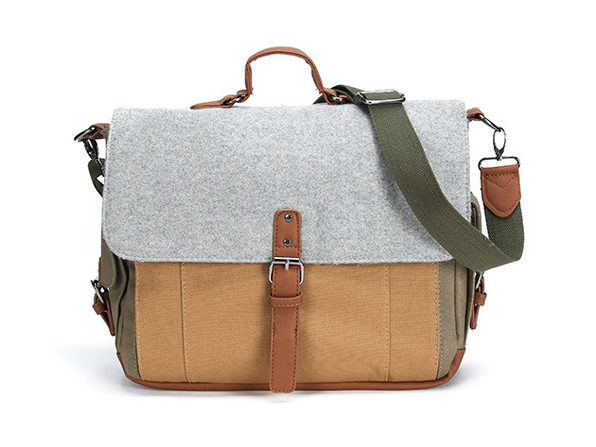Something Strong Tri-Color Canvas & Wool Messenger