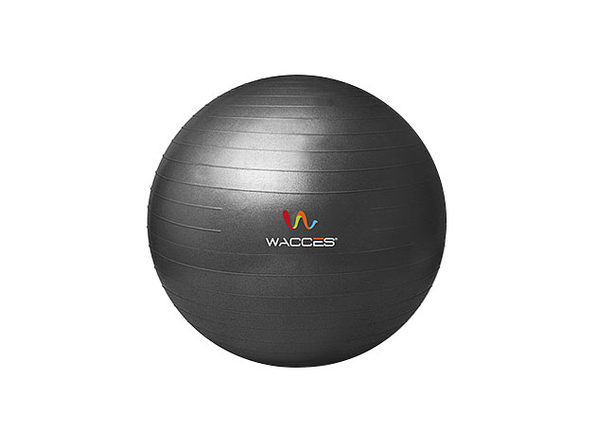 Wacces Anti-Burst  Yoga Ball with Pump - Black, 55 cm - Product Image