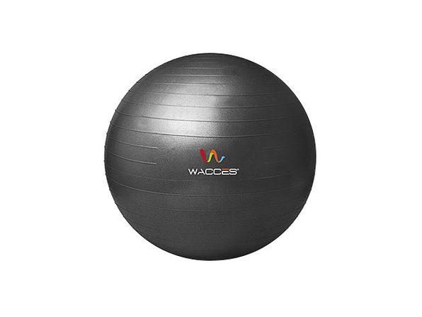 Wacces Anti-Burst  Yoga Ball with Pump - Black, 55 cm - Product Image