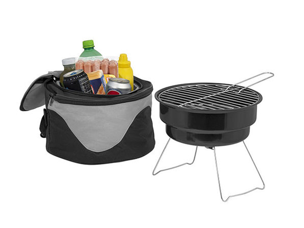The Backyard Portable Barbecue Grill Cooler Combo