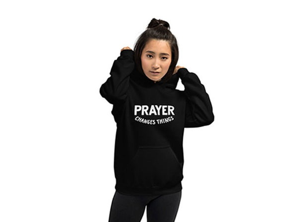 """Prayer Changes Things"" Hoodie (Extra Large)"